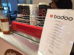 Badoo-branded-cups-and-menu-mobile-coffee-bar-hire