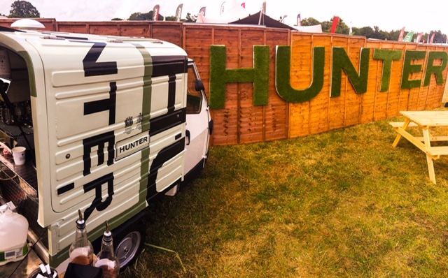Hunter boots promotional mobile coffee van