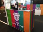 Microsoft Future Decoded branded mobile coffee bar with free Robocoffee!