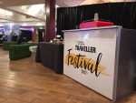 National Geographic Traveller Festival branded mobile coffee bar hire