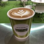 The Mobile Coffee Bean Build It Live Kloeber branded cup latte art