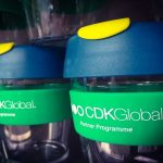 The Mobile Coffee Bean CDK Global corporate branded keep cups