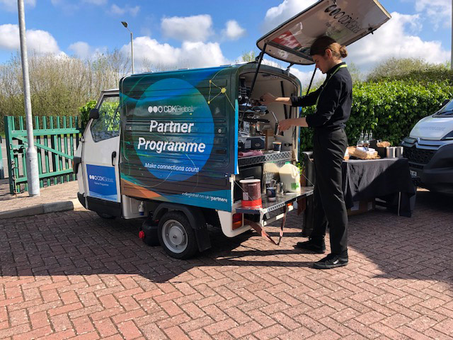 The Mobile Coffee Bean mobile coffee bar hire at Excel London