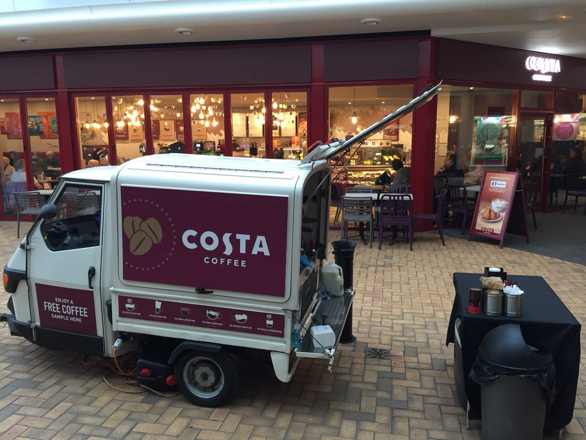 Costa coffee brand launch mobile coffee van by The Mobile Coffee Bean