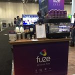 The Mobile Coffee Bean Fuze branded pop-up mobile coffee bar UC EXPO ExCel, London