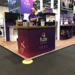 The Mobile Coffee Bean Fuze business logo branded pop-up coffee shop UC EXPO ExCel, London
