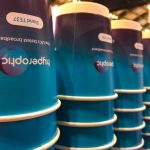 The Mobile Coffee Bean branded cups for Hyperoptic Manchester Convention Centre
