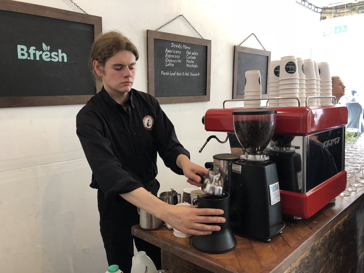 Professional Barista hire from The Mobile Coffee Bean, mobile coffee van, bar and cart hire company