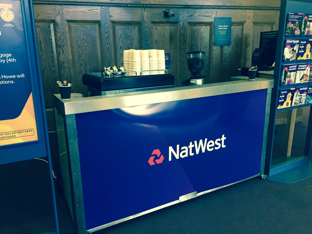 One of our recent branded mobile coffee bars for Natwest