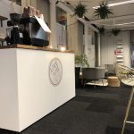 mobile coffee bar hire london live well branding vip area