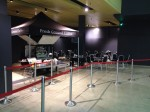 Mobile coffee cart hire with seating at Bluewater Glow Exhibition Centre