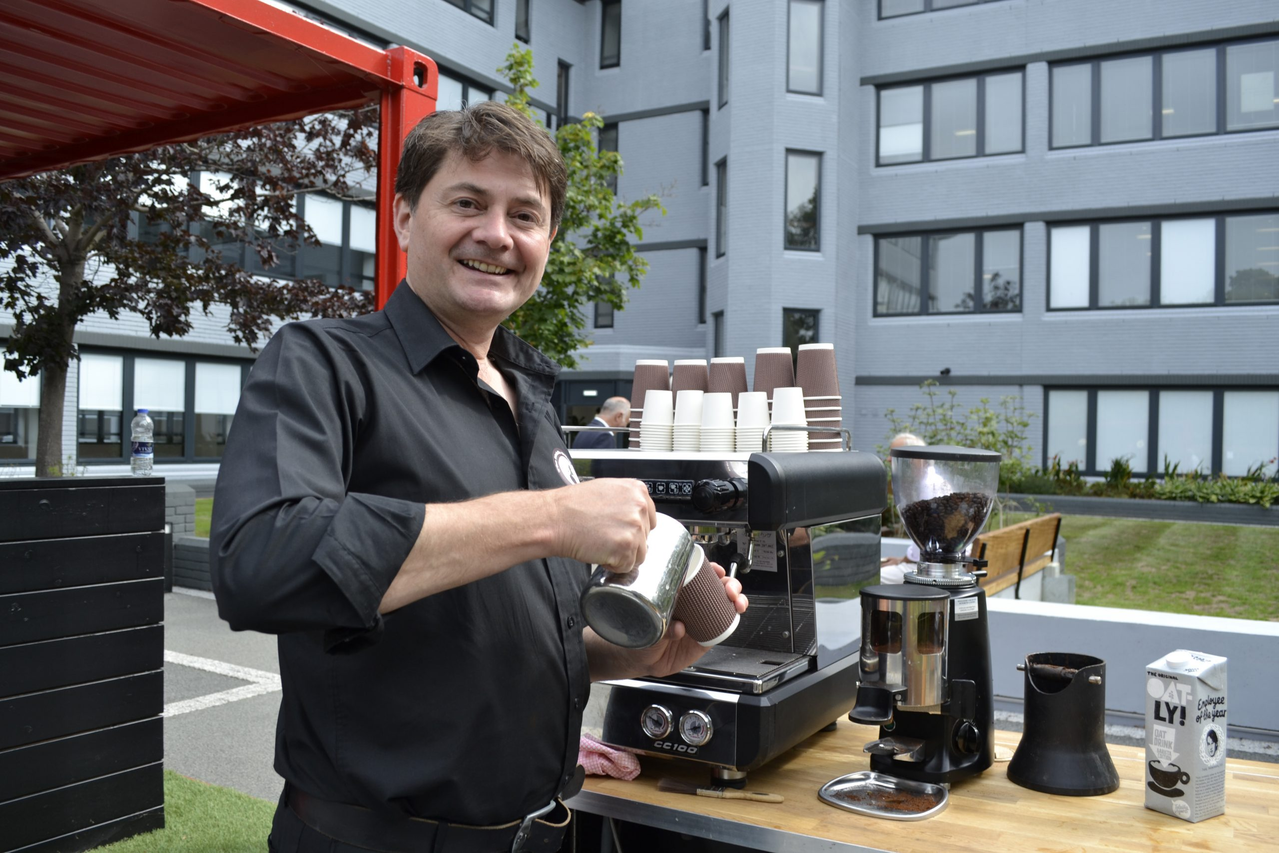 mobile coffee van bar hire professional barista service