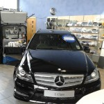 Mobile coffee van hire for Mercedes Benz VIP event