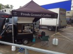 Mobile coffee van hire on film location