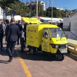 Our branded mobile coffee van in sunny Cannes