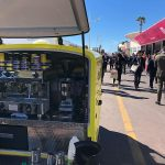 Our mobile coffee barista's view of the action