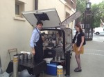 Professional barista and mobile coffee cart hire in London