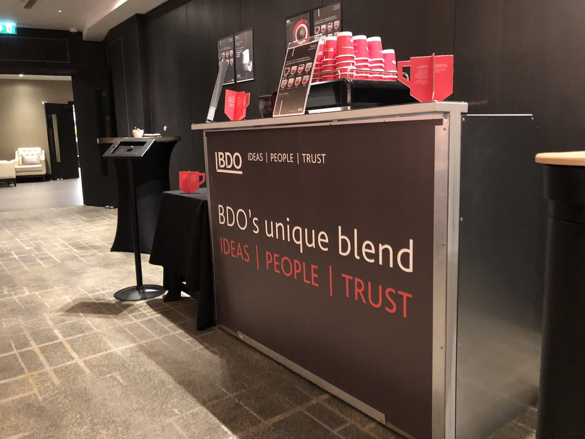 The Mobile Coffee Bean BDO branded mobile coffee bar hire