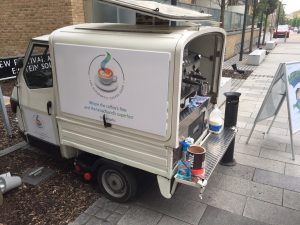 The Mobile Coffee Bean branded mobile coffee van hire for Hyperoptic