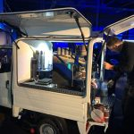 The Mobile Coffee Bean conference coffee van barista