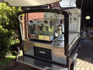 The Mobile Coffee Bean mobile coffee cart hire outdoors