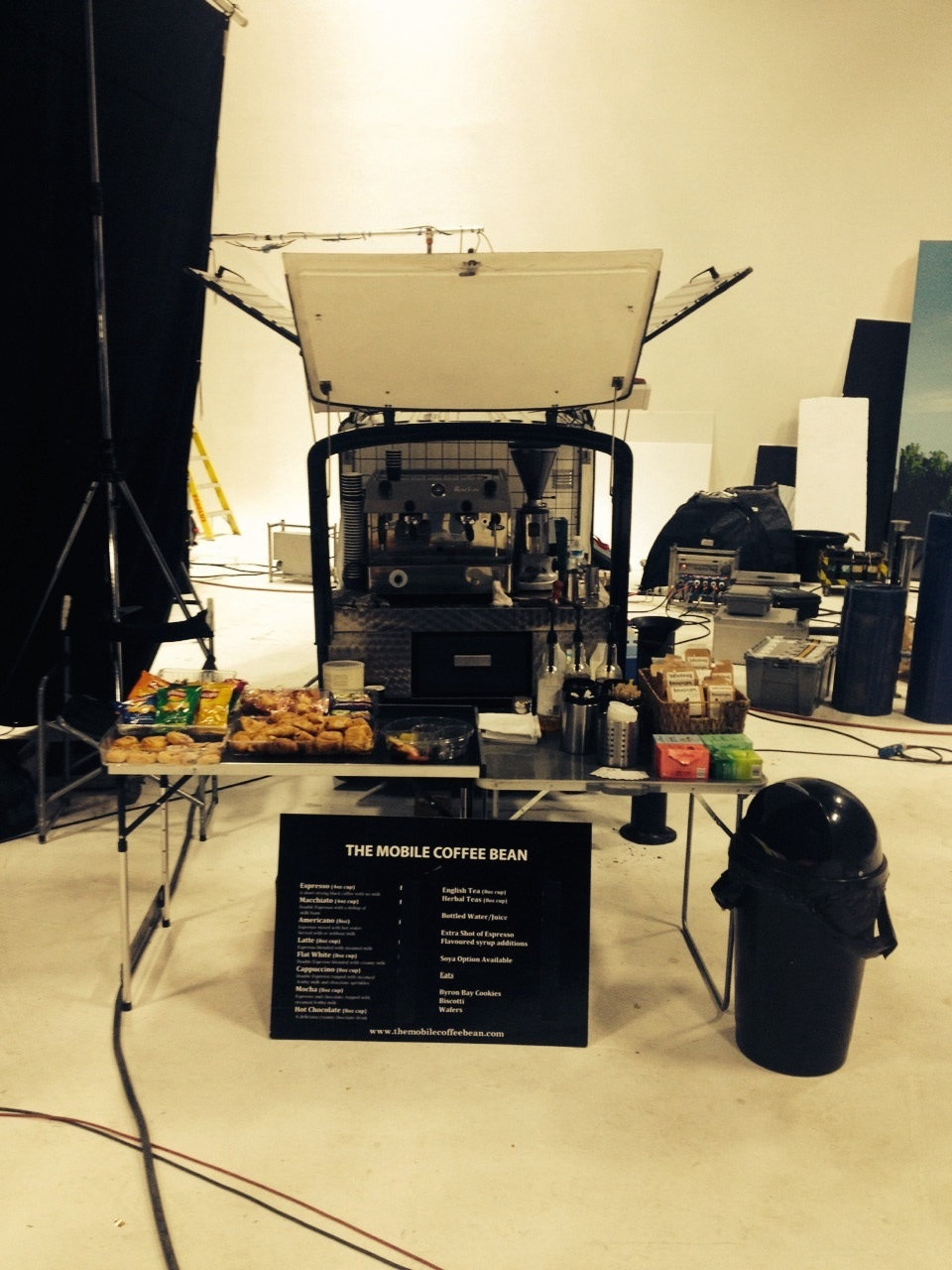 Mobile Coffee Van Hire on location