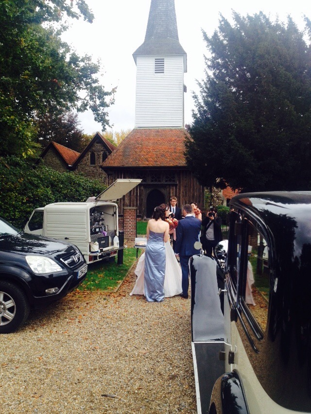 The Mobile Coffee Bean mobile coffee van wedding hire